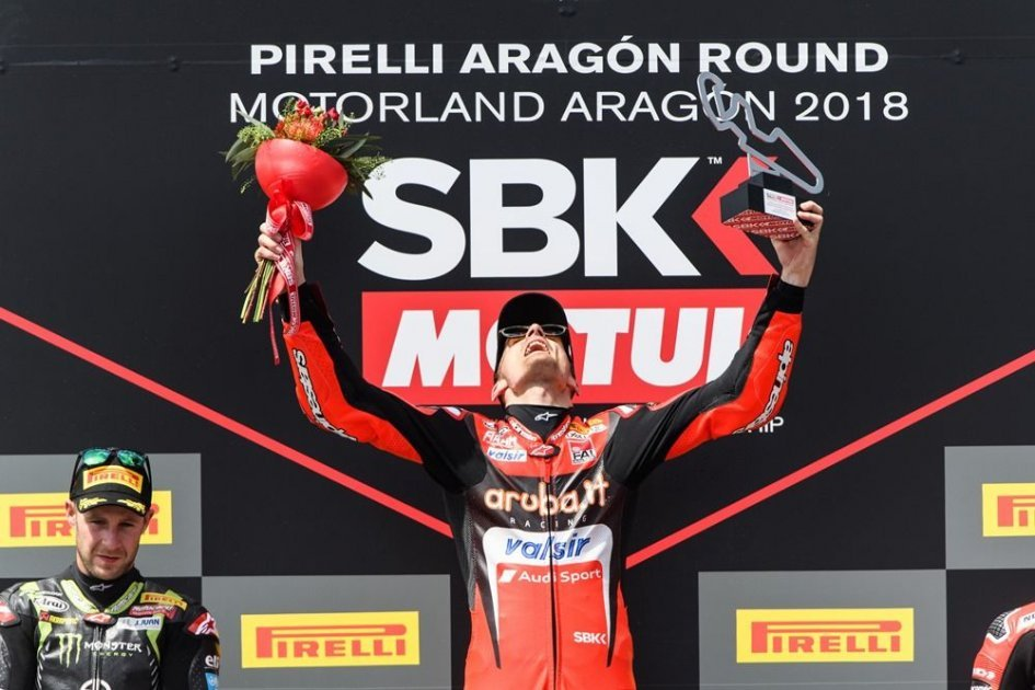 """SBK: Davies on the Race2 throne: """"I won without being able to push"""""""