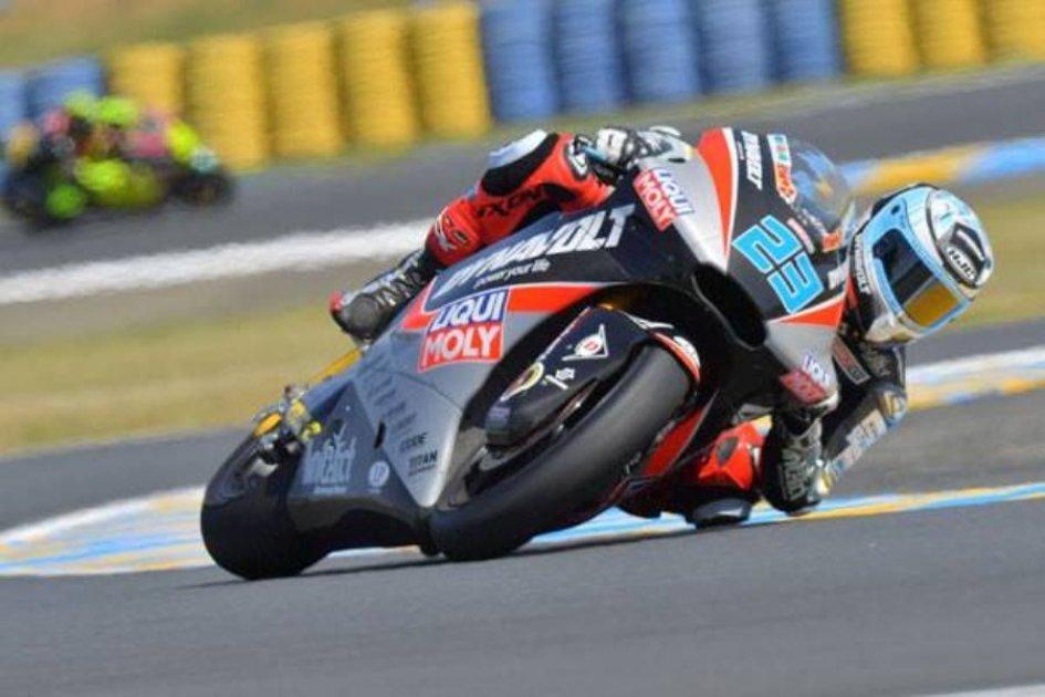 Moto2: FP3: Schrotter primo con caduta, 3° Bagnaia