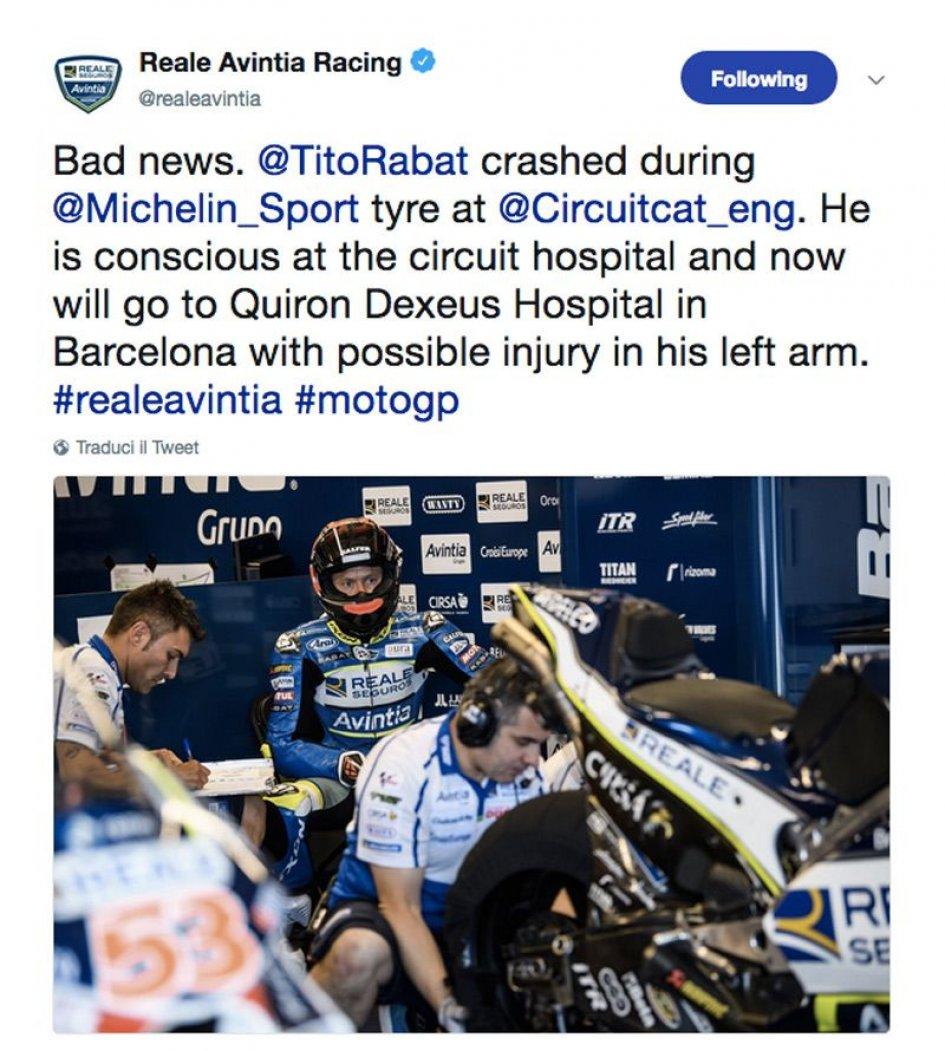 MotoGP: Rabat cade e la Ducati va a fuoco: possibile frattura
