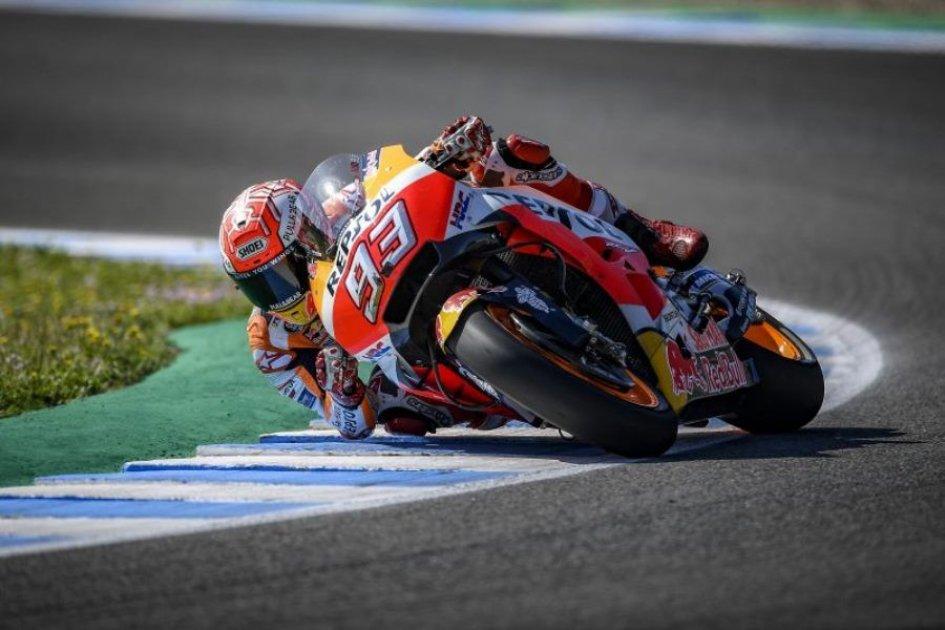 MotoGP: Marquez torna a ruggire nel warmup, 2° Iannone