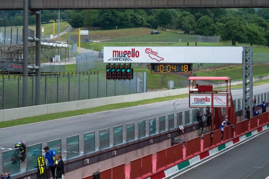 MotoGP: Rain interrupts the Mugello test. Marquez quickest
