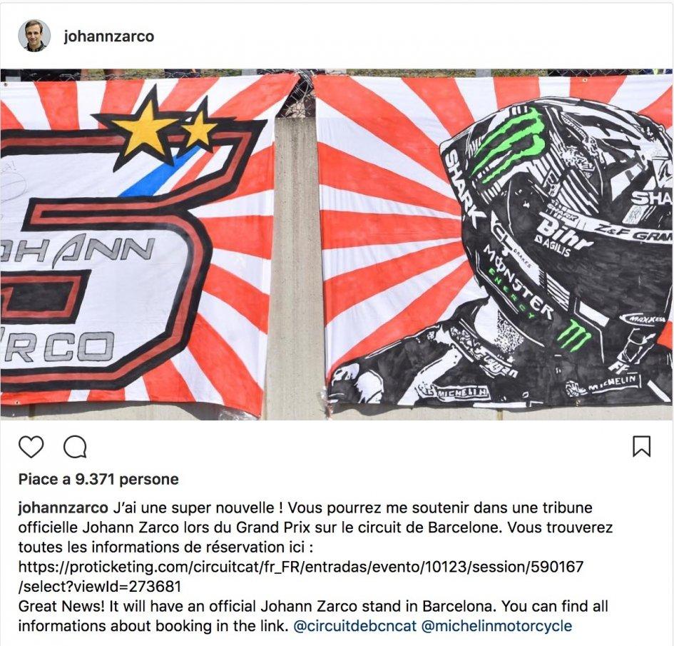 MotoGP: A tribune dedicated to Zarco at the Barcelona GP