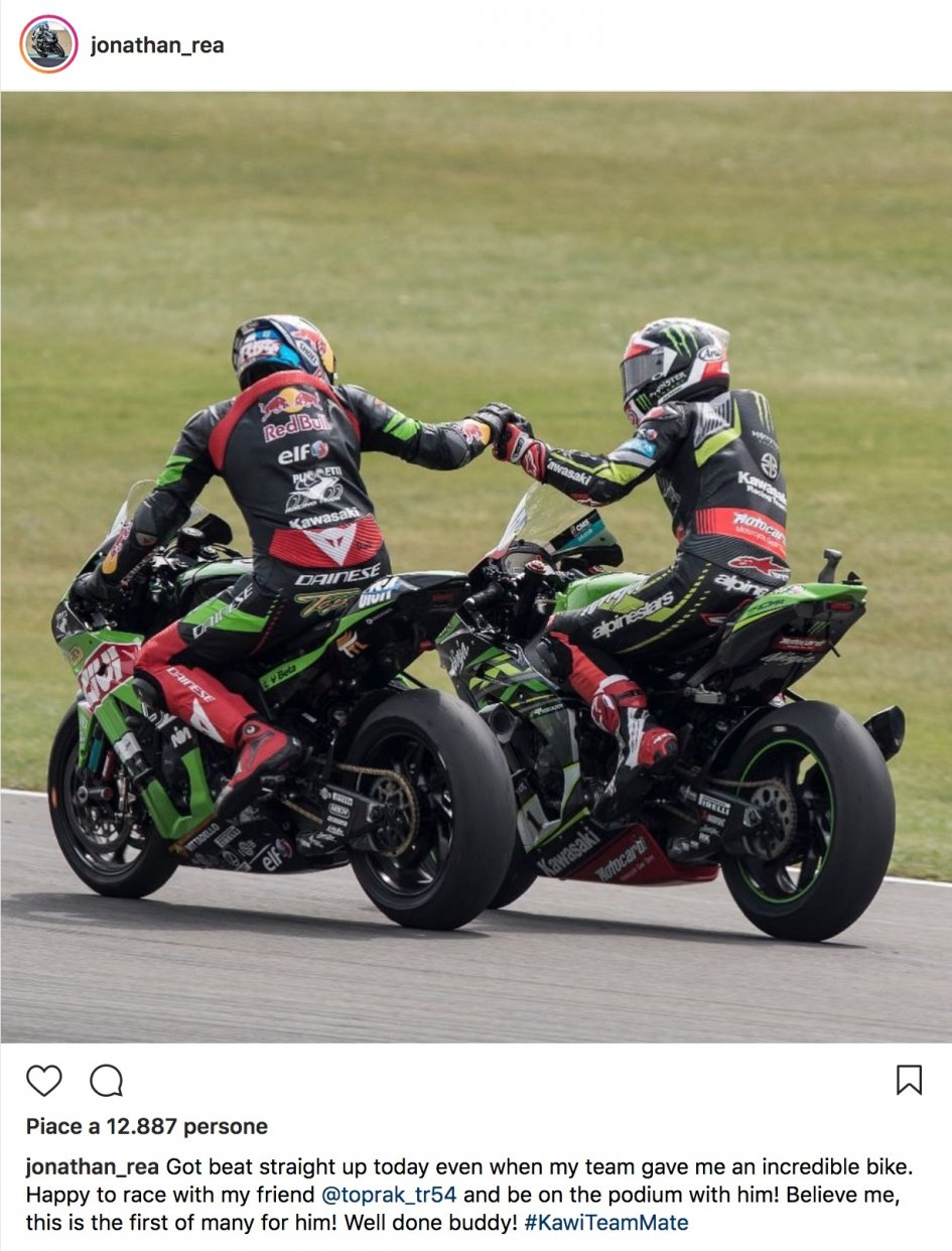 SBK: Rea pays tribute to Instagram at Razgatlioglu