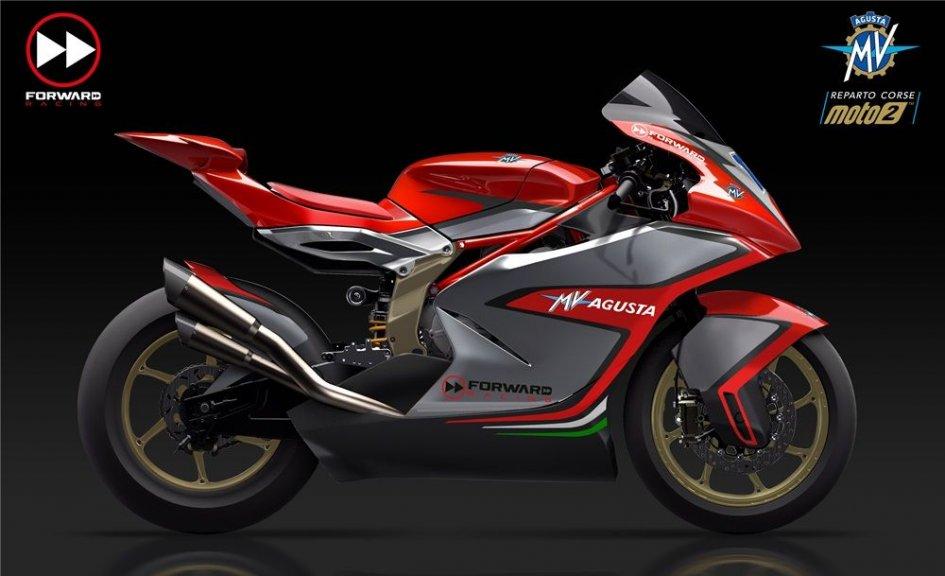 Moto2: Ecco la MV Agusta del team Forward per il 2019