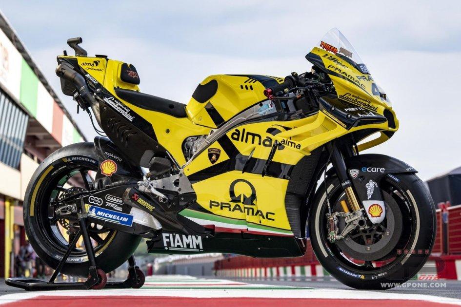 Motogp Ducati Pramac On Track At Mugello With Lamborghini Colors