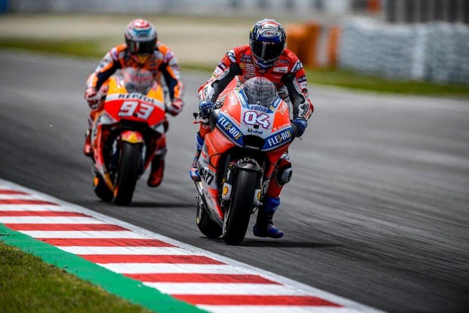 MotoGP: FP3: Dovizioso-Lorenzo, doppietta Ducati, Marquez in Q1