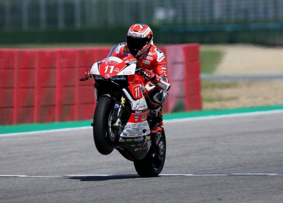 SBK: ELF CIV: ad Imola Ferrari primo in Gara 2 e campionato, Pirro out