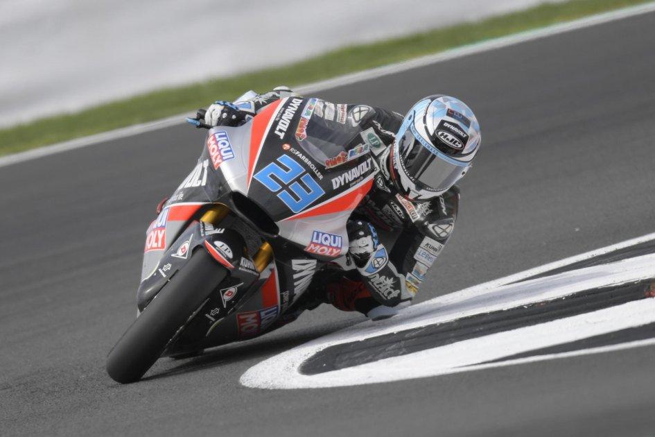 Moto2: Solo Schrotter meglio di Pasini nella FP1 di Silverstone