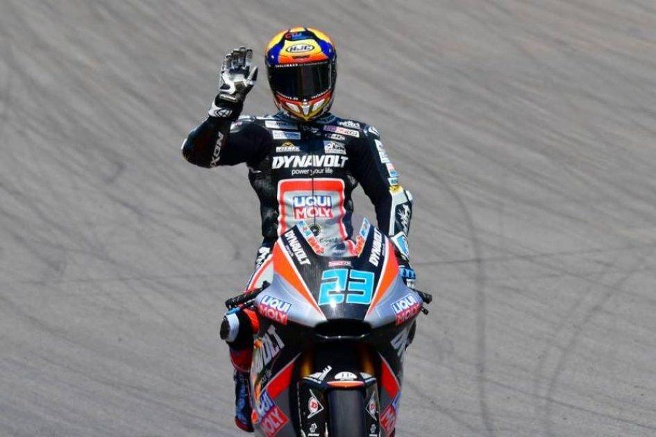 Moto2: FP2: Schrotter 1° con caduta, 2° Bagnaia, 3° Pasini