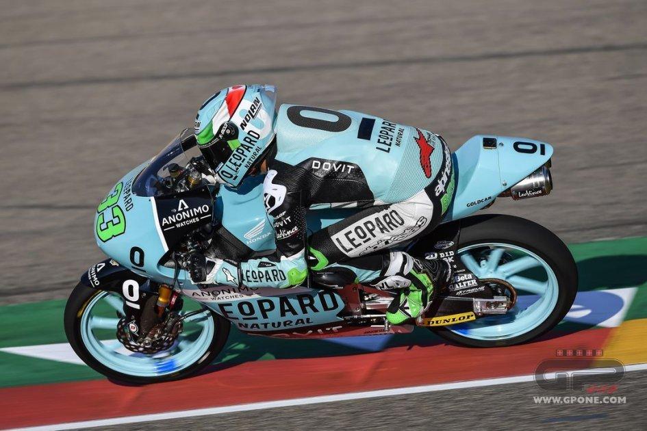 Moto3: FP2 ad Aragon sotto il segno di Bastianini, 3° Bulega
