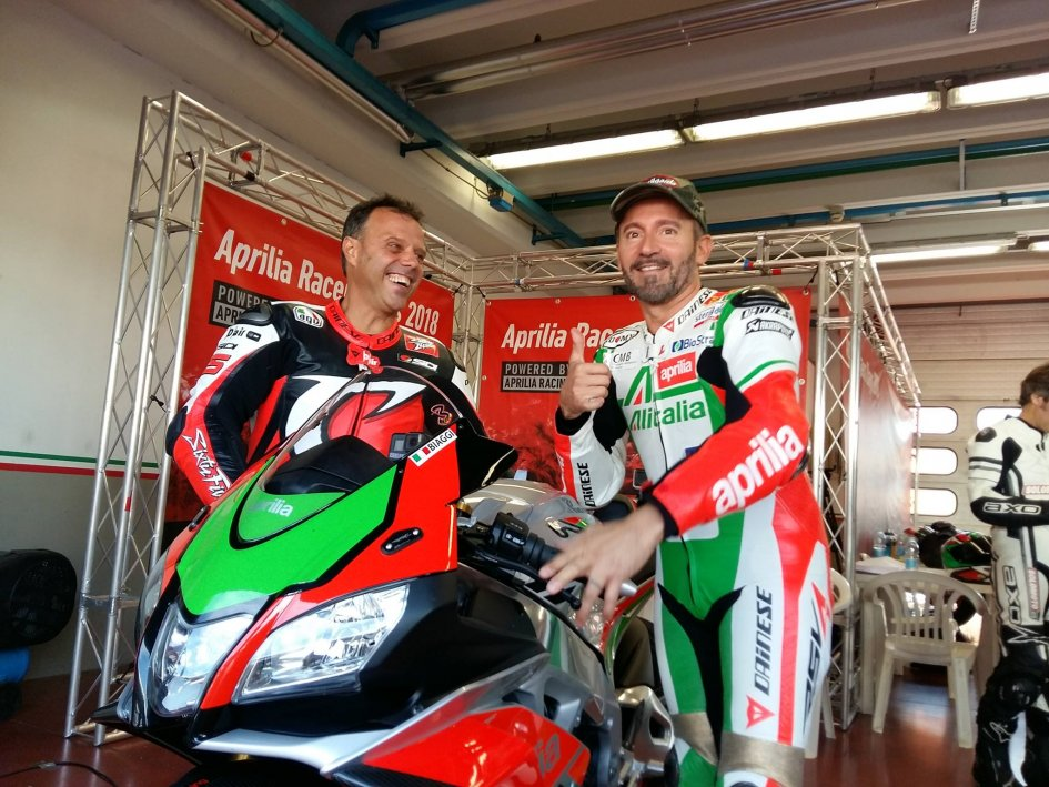 MotoGP: Capirossi and Biaggi together on the track at Mugello