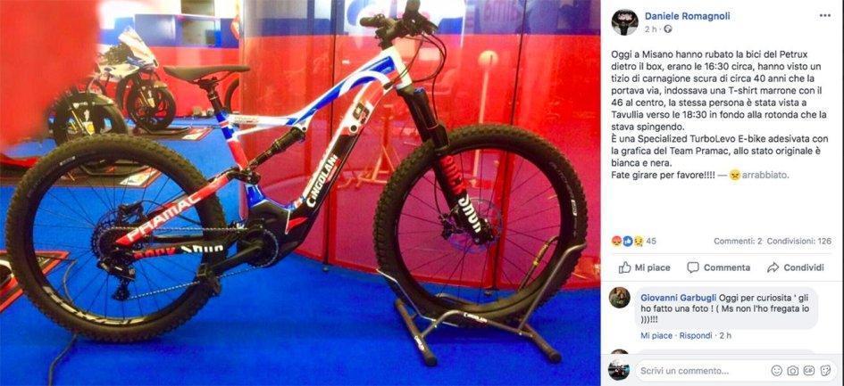MotoGP: Furto in Pramac: rubata la bicicletta di Danilo Petrucci