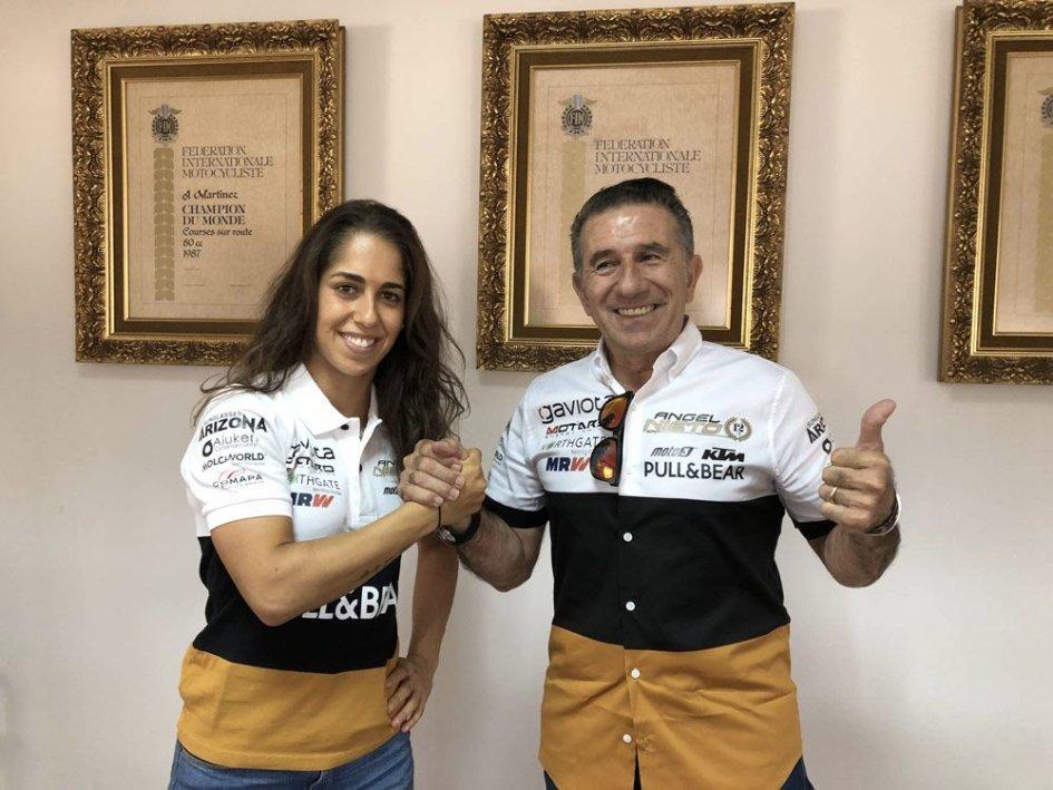 MotoE: Maria Herrera in MotoE con il team Angel Nieto