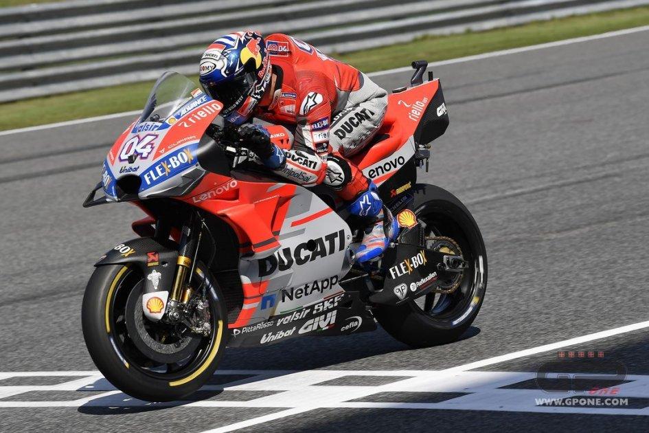 MotoGP: FP3 Buriram: Dovizioso al top, Marquez cade e va in Q1