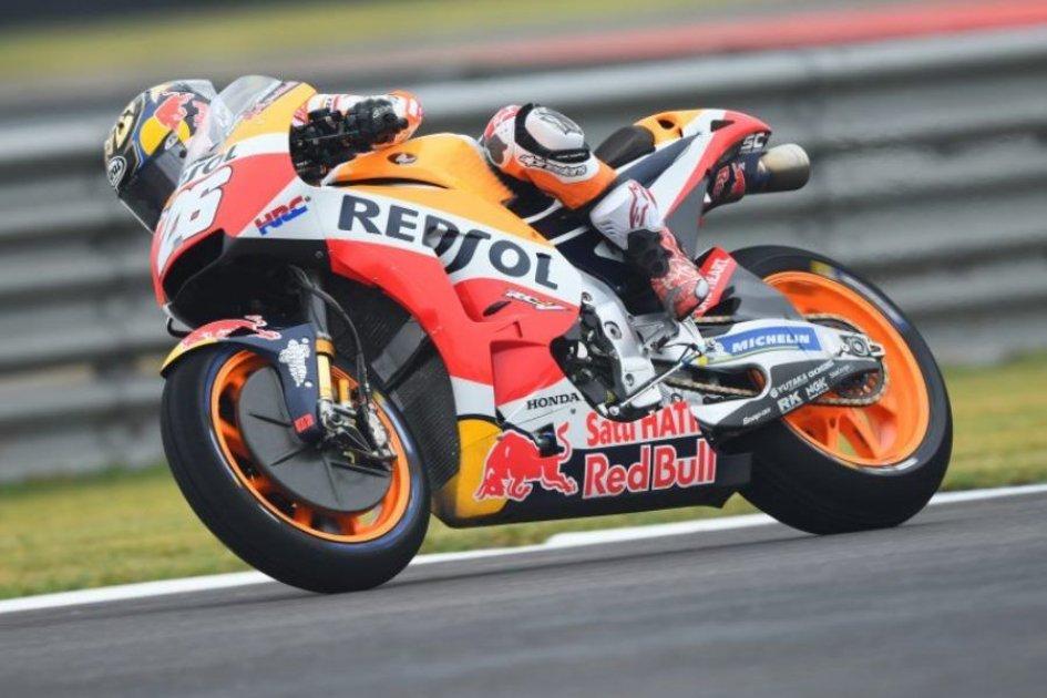 MotoGP: FP2: Dovizioso and Marquez in the garage, Pedrosa 1st