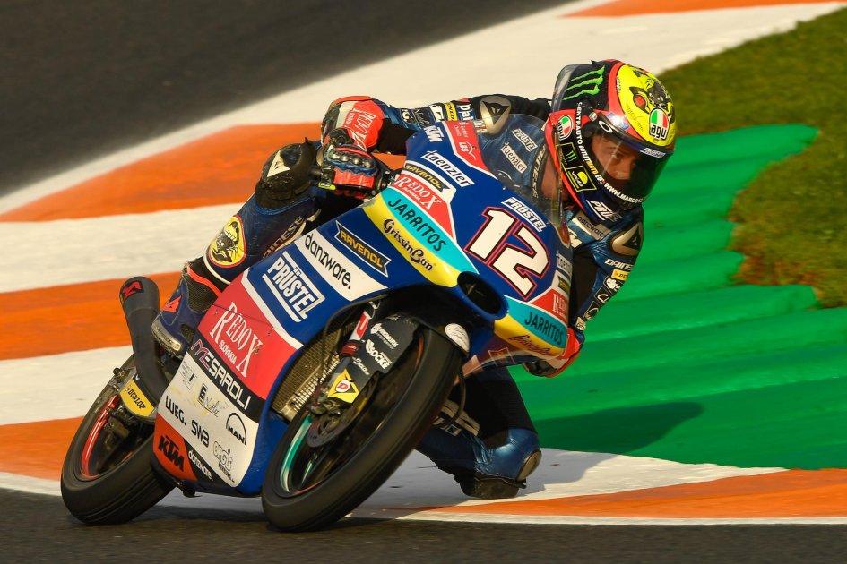 Moto3: FP3: Bezzecchi guida la carica degli azzurri a Valencia
