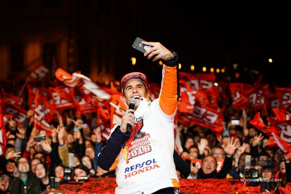 MotoGP: Marc Márquez celebrates seventh world title with fans