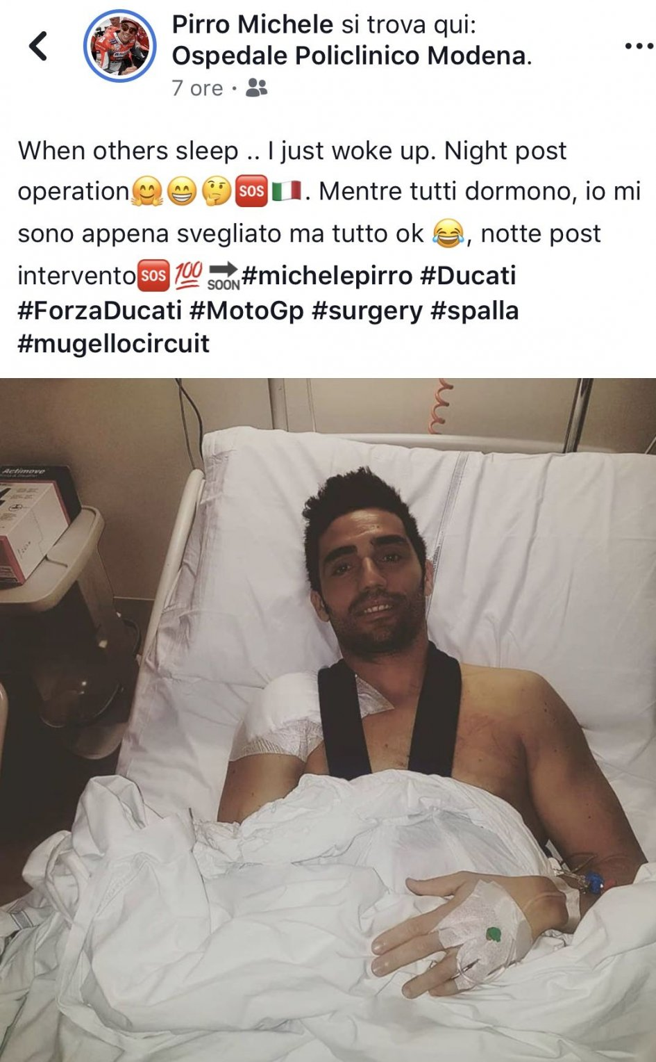 MotoGP: Michele Pirro undergoes shoulder surgery: all OK