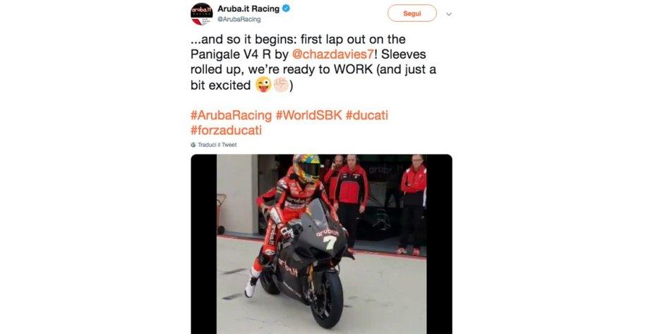 SBK: Il ruggito della Ducati Panigale V4 ad Aragon con Davies