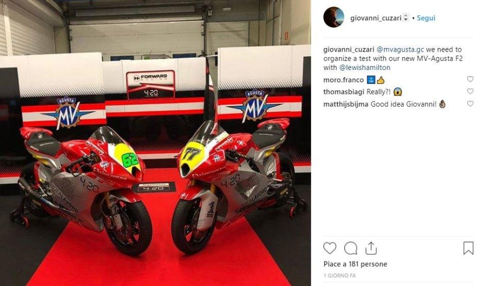 Moto2: Non solo Rossi, anche MV Agusta ha un invito speciale per Hamilton