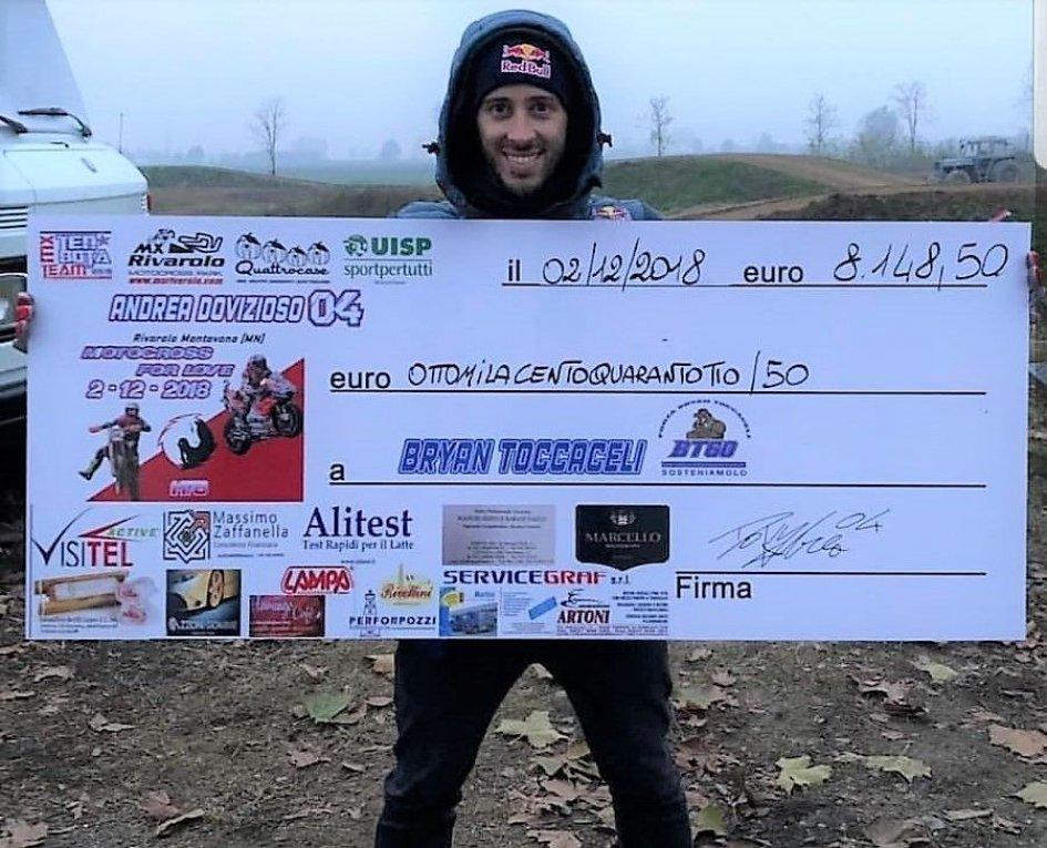 MotoGP: Dovizioso scende in pista al fianco di Bryan Toccaceli