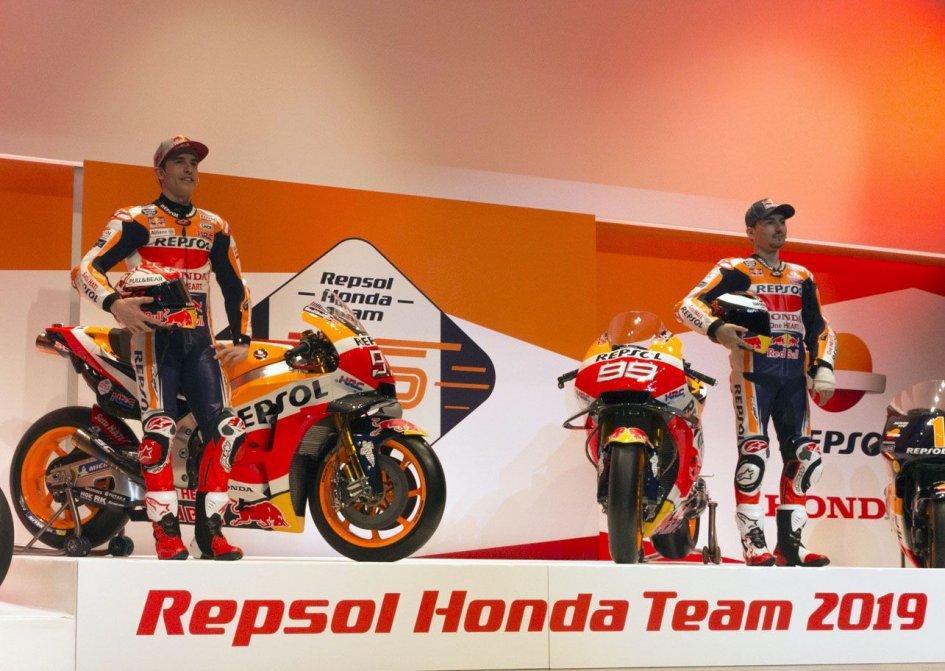 MotoGP: Marquez e Lorenzo nei colori HRC 2019
