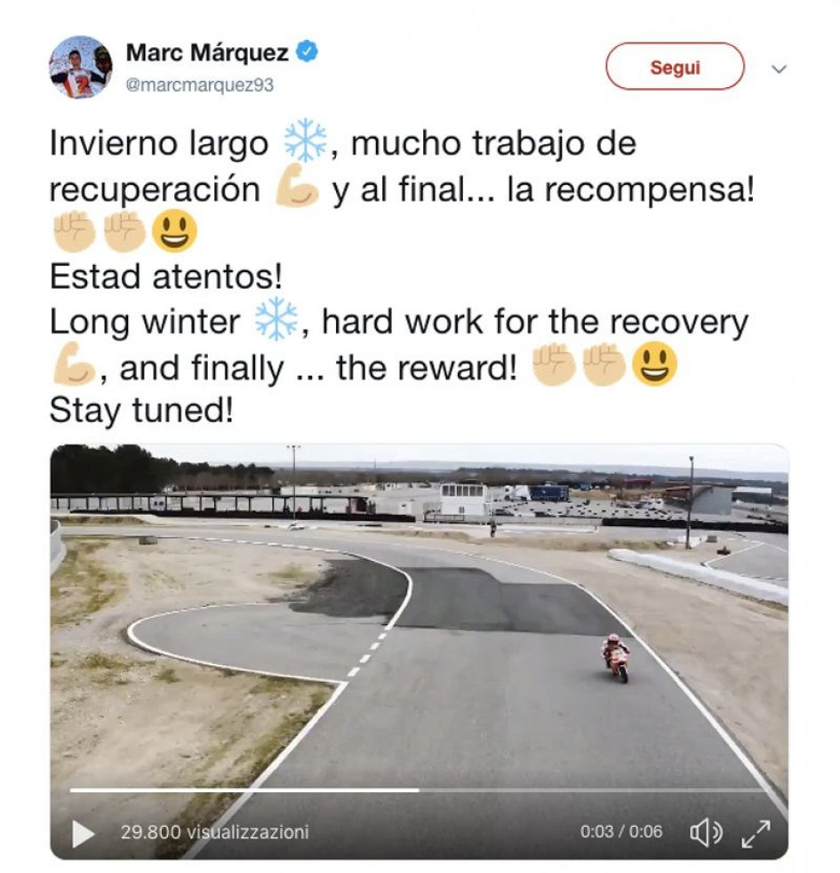 MotoGP: Marquez back in the saddle following surgery