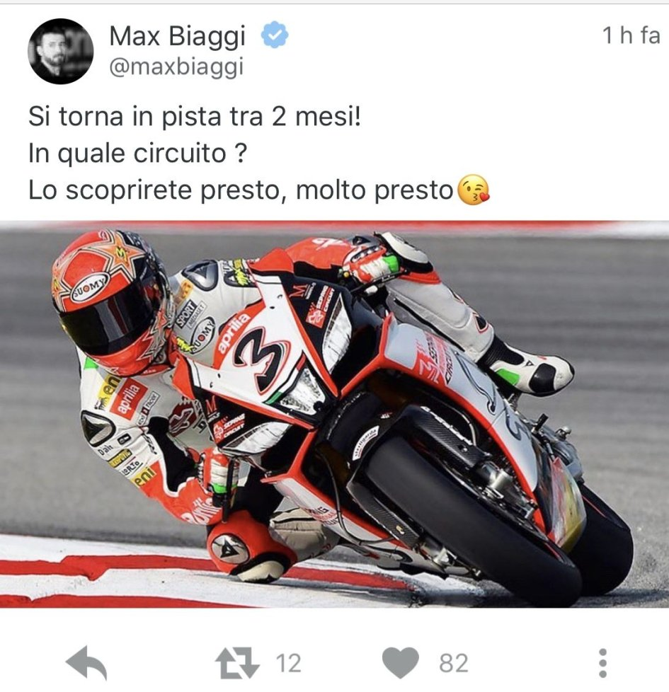 SBK: Max Biaggi back to the track!