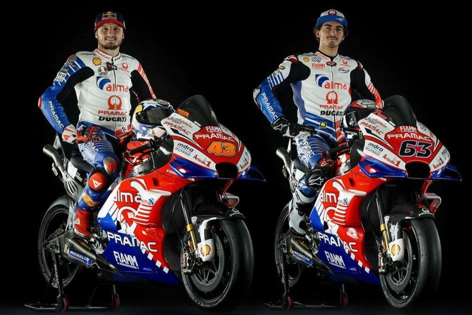 MotoGP: Colori da Lamborghini per le Ducati Pramac di Bagnaia e Miller