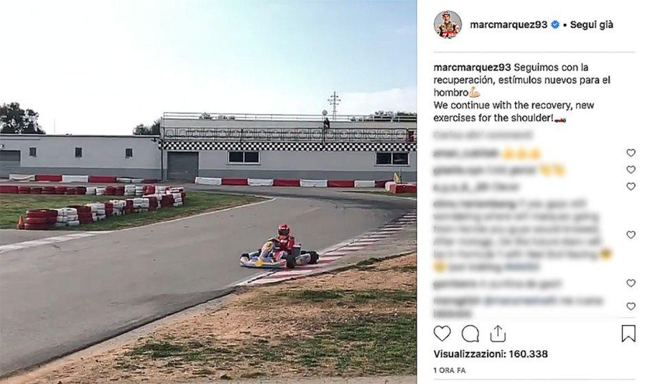 MotoGP: Marquez le prova tutte: in Go Kart per allenare la spalla