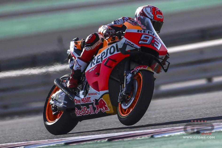 MotoGP: Neanche una caduta ferma Marquez: 1° in FP3