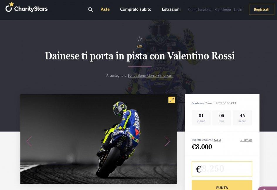 MotoGP: Dainese ti porta in pista con Valentino Rossi