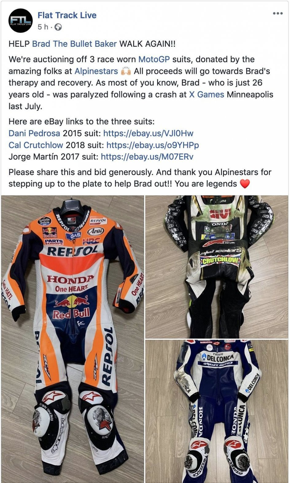 News: Alpinestars al fianco di Brad 'The Bullet' Baker