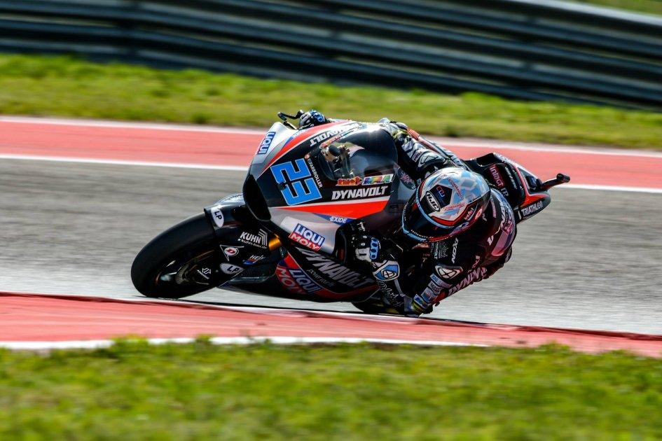 Moto2: Austin: Schrotter centra la pole piegando A. Marquez, 7° Pasini