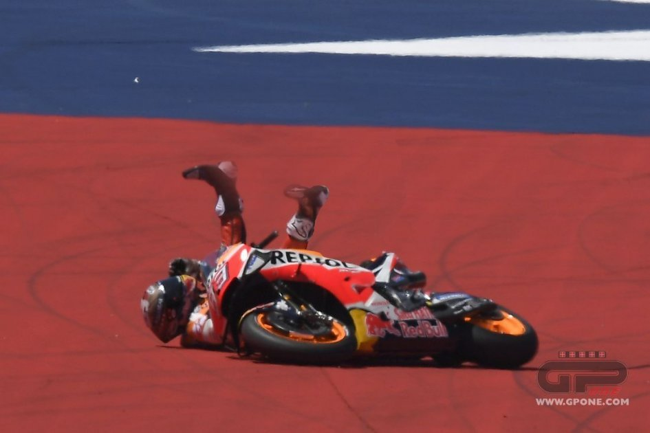 """MotoGP: Marquez: """"My mistake. Three Hondas out? It's no coincidence."""""""