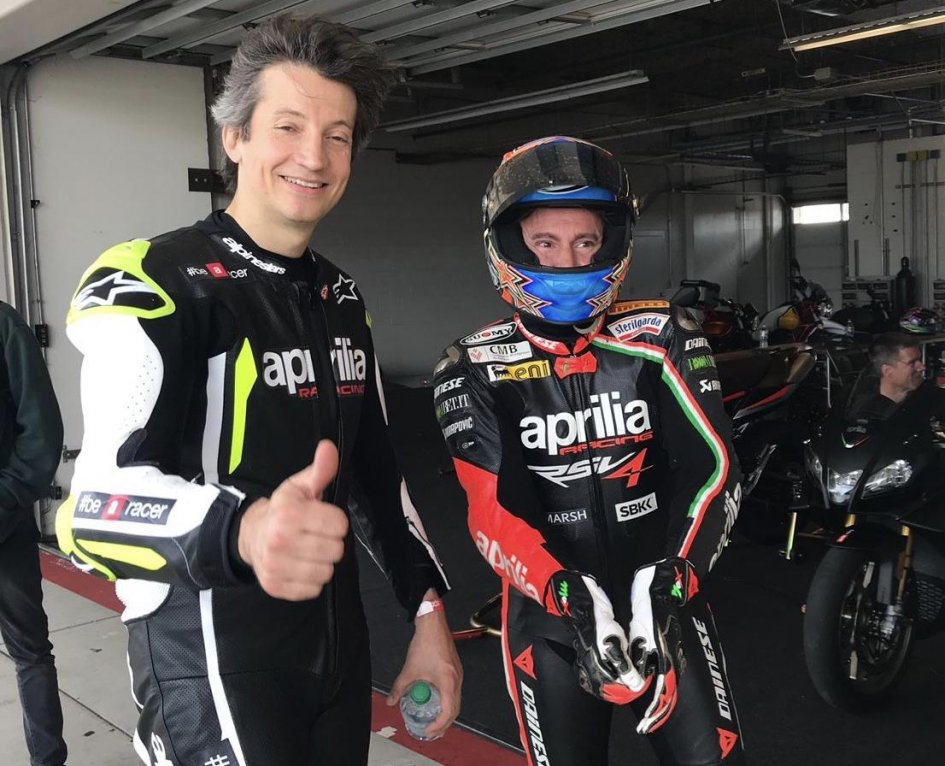 MotoGP: Massimo Rivola and Max Biaggi new Aprilia couple in Texas