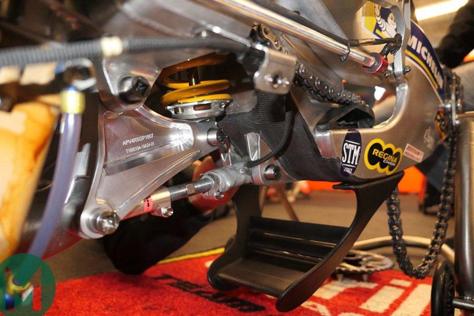 """MotoGP: Ecco il """"cucchiaio triplano"""" di Aprilia"""