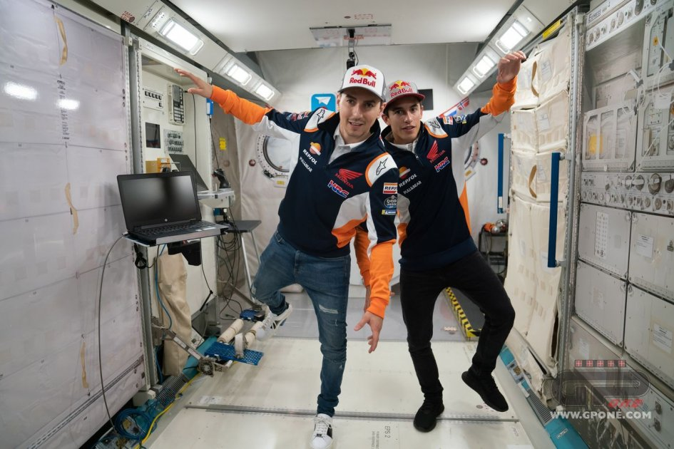 MotoGP: Marquez and Lorenzo, astronauts for one day
