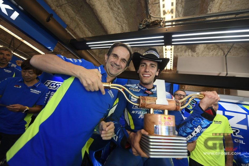MotoGP: Brivio: A hug and a 'f*** off' with Rossi after Rins' win