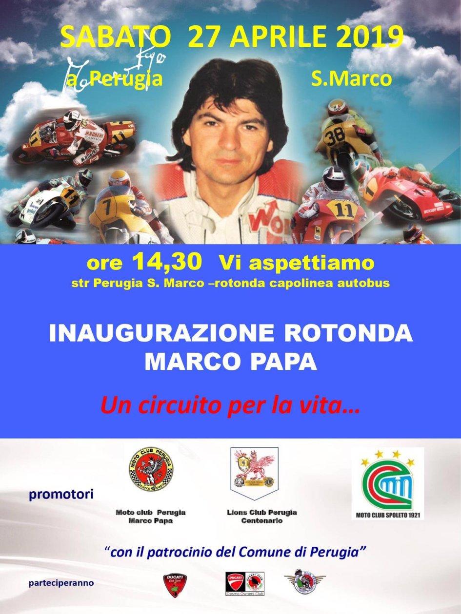 News: Una rotonda per Marco Papa a Perugia
