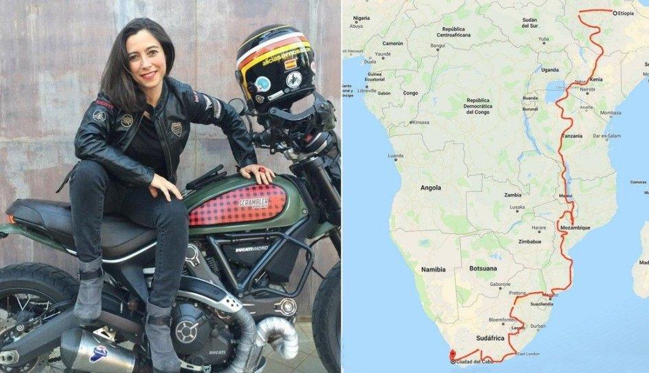 Viaggi: Alicia Sornosa e la Scrambler: 15.000 km attraverso l'Africa