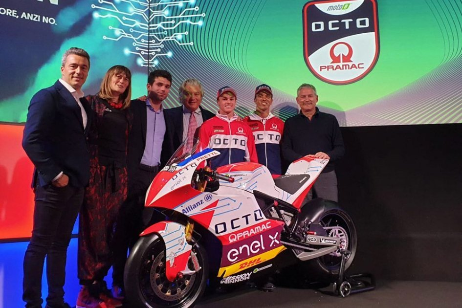"MotoE: Team Octo Pramac ready and ""electrified"" with De Angelis and Hook"