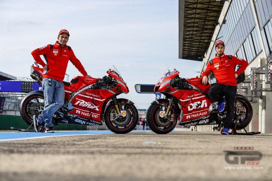 MotoGP: Ecco le Ducati personalizzate di Dovizioso e Petrucci