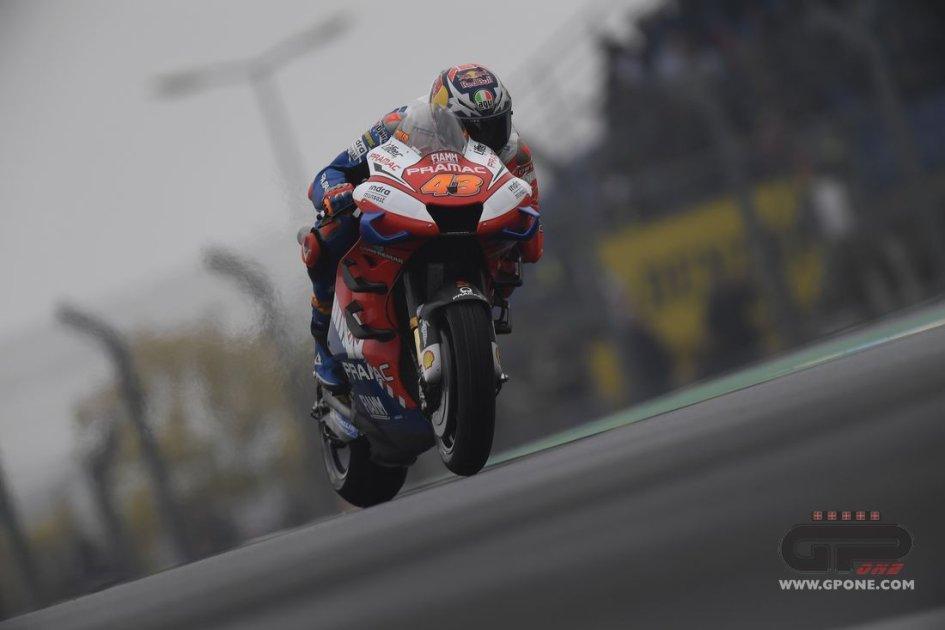 """MotoGP: Miller: """"Vi ho sorpresi... non ho messo le slick sul bagnato"""""""