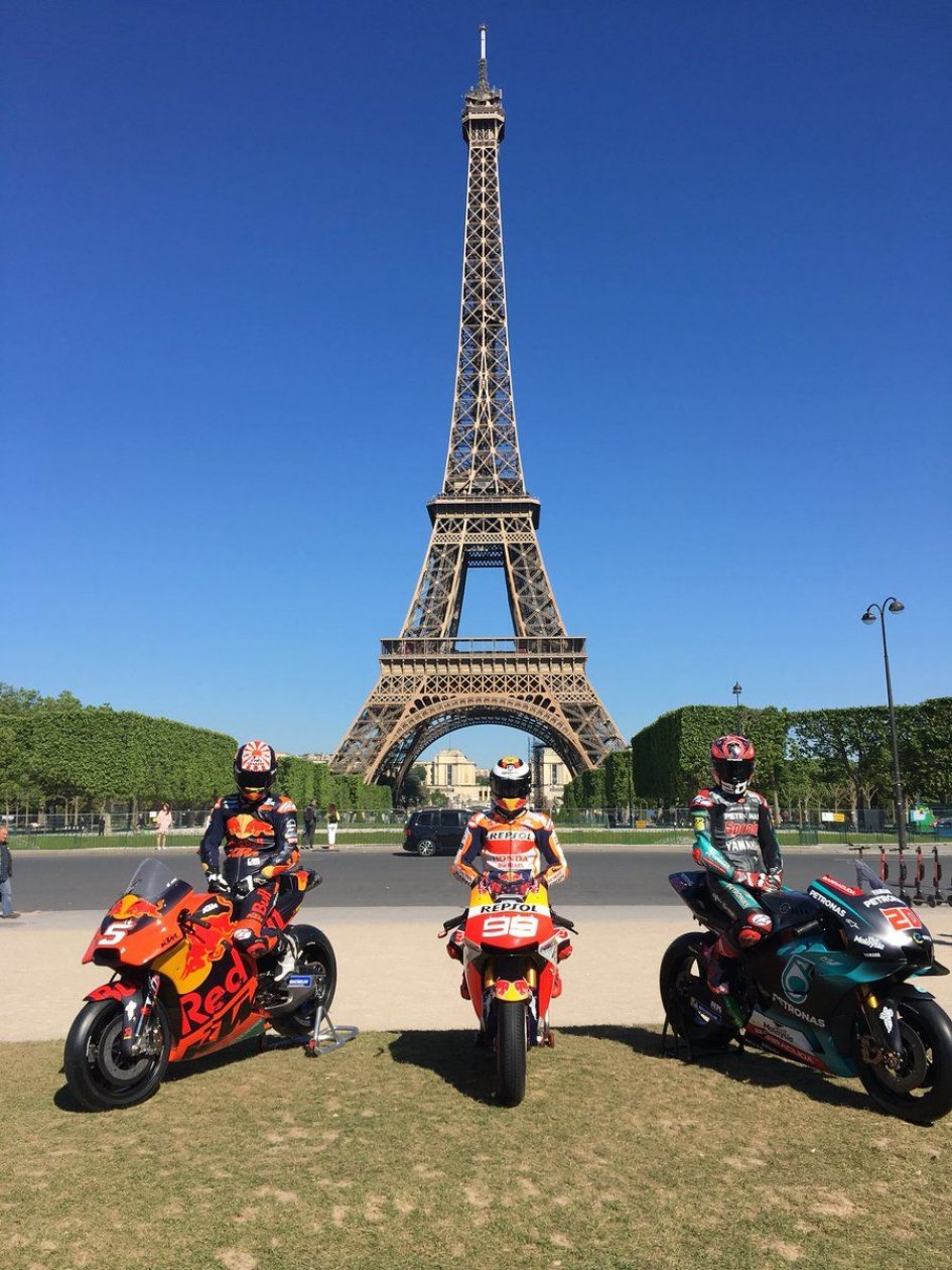 MotoGP: Lorenzo, Quartararo and Zarco in the shadow of the Eiffel Tower