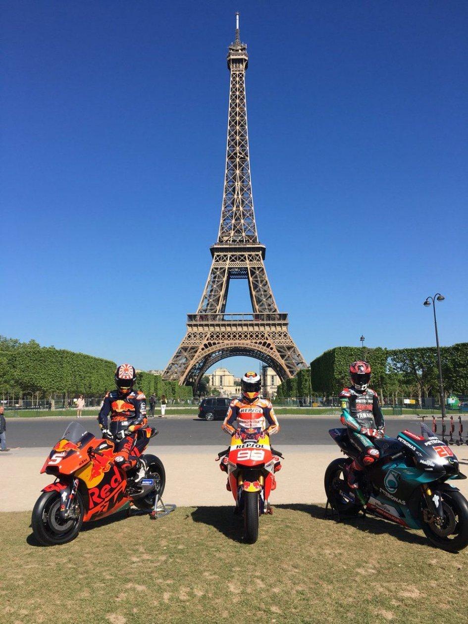 MotoGP: Lorenzo, Quartararo and Zarco in the shadow of the Eiffel Tower