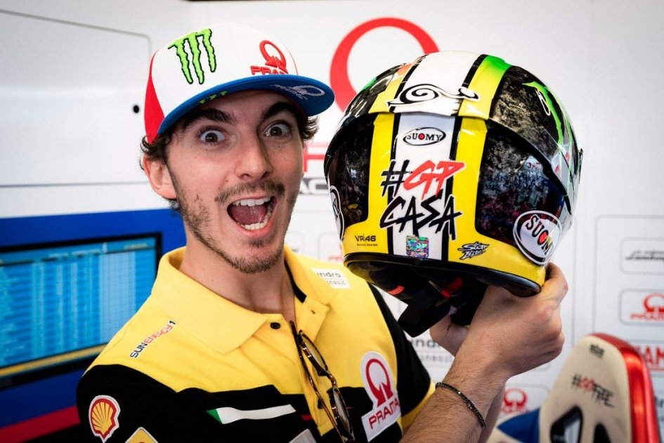 MotoGP: Bagnaia with Mugello's asphalt on his head