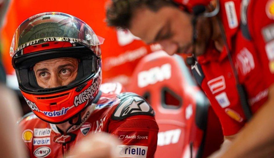 """MotoGP: Dovizioso: """"E' un peccato non attaccare, Marquez fatica, ma anche noi"""""""