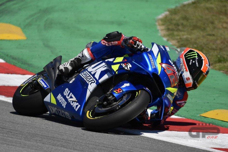"""MotoGP: Lo strano problema di Rins: """"ho 'cotto' la gomma dietro a Petrucci"""""""