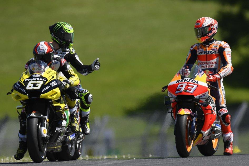"MotoGP: Bagnaia: ""Marquez is slow on the straight, pretending to push"""